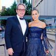 Sarah Jessica Parker et son mari Matthew Broderick arrivent à une soirée de gala à New York le 28 septembre 2017.