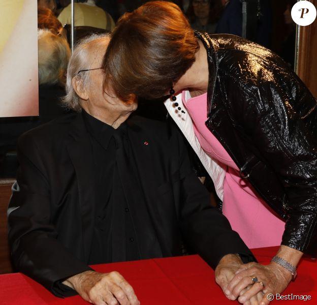 Exclusif - Michel Legrand et sa femme Macha Méril - Le concert des 50 ans des Demoiselles de Rochefort au Grand Rex à Paris le 30 septembre 2017. © Marc Ausset- Lacroix / Bestimage