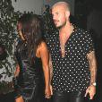 """M. Pokora et sa compagne Christina Milian fêtent leurs anniversaires respectifs avec leurs amis au restaurant """"Beauty & Essex"""" à Los Angeles le 26 septembre 2017."""