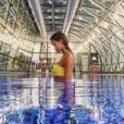 """""""Iris Mittenaere à l'aéroport de Doha (Qatar) le 4 janvier 2017."""""""