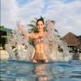 """Iris Mittenaere (Miss Univers 2016) hypersexy en bikini en Equateur, le 3 juin 2017."""