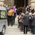 Exclusif- Obsèques de Anne Wiazemsky en la basilique Sainte-Clotilde à Paris le 11 octobre 2017.