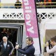 """Hatem Ben Arfa - Le Variétés Club de France dispute un match caritatif présidé par madame Chirac au profit de l'opération """"+ de Vie"""", en faveur des personnes âgées accueillies dans les services de gériatrie et d'URMA, service pédiatrie du CHU de Montpellier, parrainé par Laurent Blanc au stade Léo-Lagrange de Poissy, le 11 Octobre 2017. © Marc Ausset-Lacroix/Bestimage"""