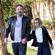 Ben Affleck et J. Garner se retrouvent avec leurs filles S. et Violet pour déguster une glace chez Rori's à Santa Monica, le 12 octobre 2017.