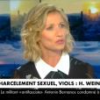 Alexandra Lamy sur le plateau de CNews le 11 octobre 2017