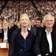 Tilda Swinton, Bertrand Tavernier - Cérémonie d'ouverture du Festival Lumière 2017 au cours de laquelle Eddy Mitchell a reçu un hommage à Lyon, le 14 Octobre 2017 © Dominique Jacovides/Bestimage