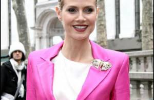 La belle Heidi Klum ose le look rose bonbon... Et c'est juste pas possible !