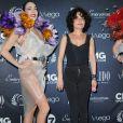 """""""Isabelle Mergault - 10ème cérémonie des Globes de Cristal au Lido à Paris, le 13 avril 2015."""""""