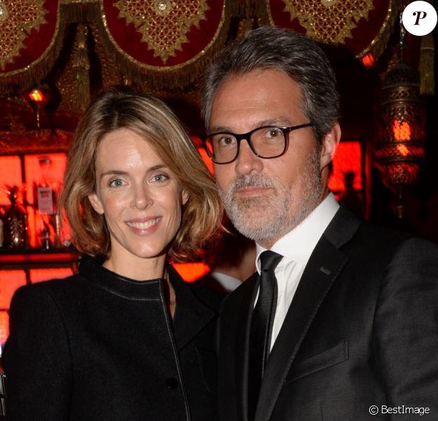 """Exclusif - Stéphane Delajoux avec sa femme Julie Andrieu - After-party du film """"Knock"""" au Raspoutine à Paris, le 16 octobre 2017. © Rachid Bellak/Bestimage"""
