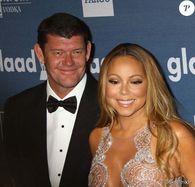 Mariah Carey et son fiancé James Packer à la 27e soirée annuelle Glaad Media à The Waldorf-Astoria à New York, le 14 mai 2016 © Nancy Kaszerman via Bestimage