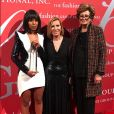 "Kerry Washington, Liz Rodbell et Margaret Hayes - 34ème gala ""Night of Stars'' à New York, le 26 octobre 2017. © Sonia Moskowitz/Globe Photos/Zuma Press/Bestimage"