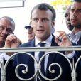 Déambulation du Président de la République, Emmanuel Macron dans les rues de Cayenne, Guyane Francaise. Le 28 octobre 2017. © Stéphane Lemouton / BestImage