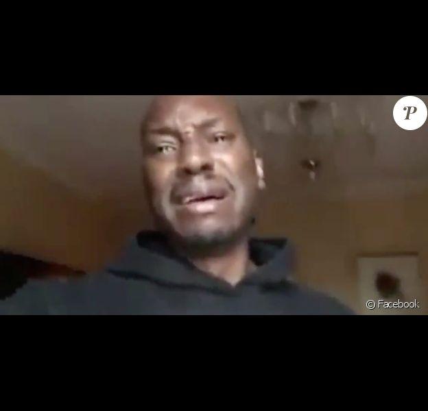 Tyrese Gibson en larmes s'explique sur ses problèmes personnels et affirme qu'il a besoin d'argent, le 1er novembre 2017. L'acteur est en colère car le tournage du film Fast & Furious 9  (et donc ses rentrées d'argent) a été retardé.