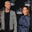 Le chanteur français M. Pokora (Matt Pokora) et sa compagne la chanteuse américaine Christina Milian lors des NRJ Music Awards 2017 à Cannes le 4 novembre 2017