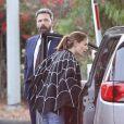 Ben Affleck et Jennifer Garner se réunissent en famille pour Halloween à Malibu, le 31 octobre 2017