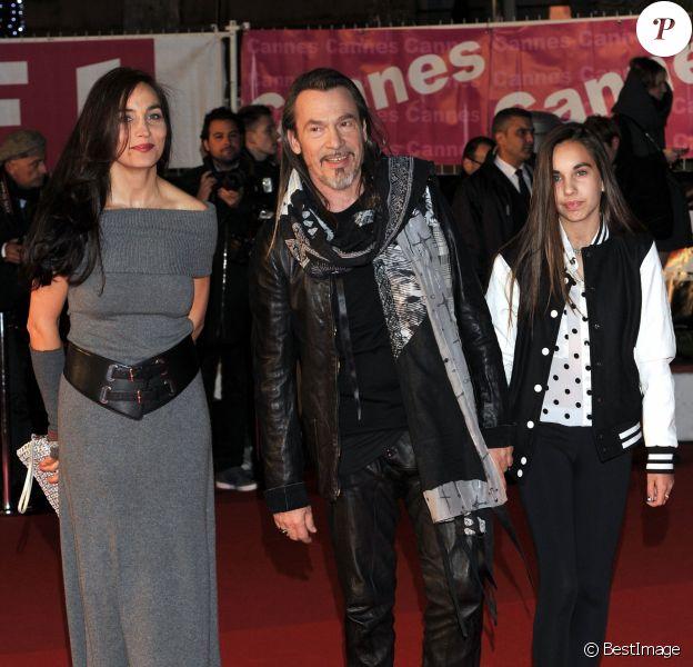 Florent Pagny, sa femme Azucena Pagny et leur fille Ael - 15e édition des NRJ Music Awards au Palais des Festivals à Cannes le 14 décembre 2013.