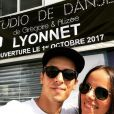 Alizée et Grégoire Lyonnet en plein travaux pour l'ouverture de leur studio de danse à Ajaccio prévue le 1er octobre 2017.