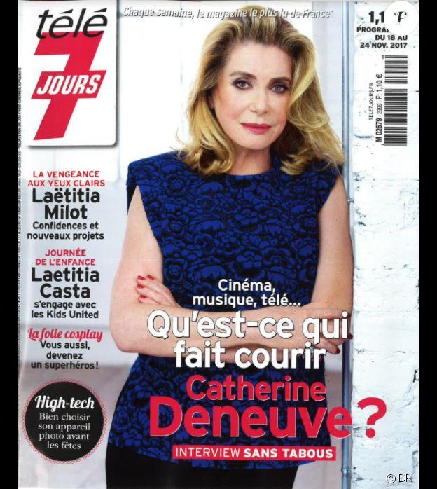 Catherine Deneuve en couverture du magazine Télé 7 Jours du 18 au 24 novembre 2017