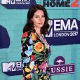 Lana del Rey sur le tapis rouge des MTV Europe Music Awards 2017 au SSE Arena, Londres, le 12 novembre 2017.