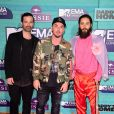 Thirty Seconds to Mars sur le tapis rouge des MTV Europe Music Awards 2017 au SSE Arena, Londres, le 12 novembre 2017.