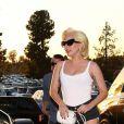 Lady Gaga a assisté au match des LA Dodgers à Los Angeles, le 24 octobre 2017