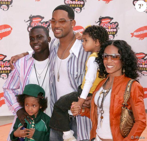 Will Smith, sa femme Jada Pinkett Smith et ses enfants Jaden, Willow et Trey