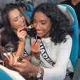 Les Miss régionales embarquent pour la Californie, le 19 novembre 2017 à l'aéroport Paris-Charles-de-Gaulle. Le voyage Miss France 2018 peut débuter !