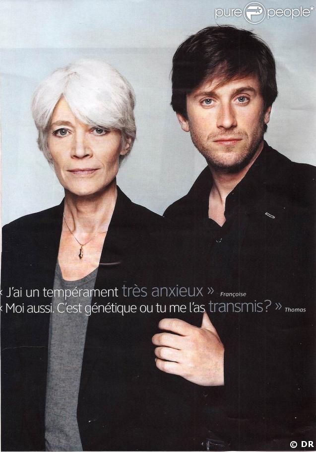 Françoise Hardy et son fils Thomas Dutronc dans le magazine  Psychologies  du mois de mars.