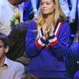Clémence Bertrand ( femme de Lucas Pouille ) - 1er match de la Finale de la coupe Davis opposant la France à la Belgique remporté par Goffin (7-5, 6-3, 6-1) au Stade Pierre Mauroy à Lille , le 24 novembre 2017 © Perusseau - Ramsamy / Bestimage
