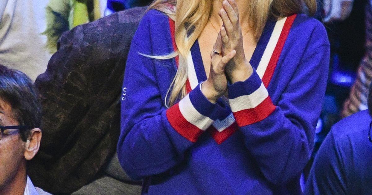 Clémence Bertrand ( femme de Lucas Pouille ) - 1er match de la Finale de la coupe Davis opposant ...
