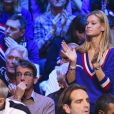 Clémence Bertrand (femme de Lucas Pouille) - 1er match de la Finale de la coupe Davis opposant la France à la Belgique remporté par Goffin (7-5, 6-3, 6-1) au Stade Pierre Mauroy à Lille , le 24 novembre 2017 © Perusseau - Ramsamy / Bestimage