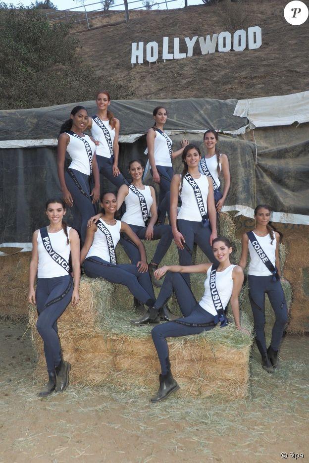 Les Miss lors de leur activité cheval dans sur les collines d'Hollywood, le 25 novembre 2017.