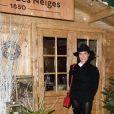 """Semi-exclusif - Alessandra Sublet - Inauguration du """"Chalet les Neiges 1850"""" sur la terrasse l'Hôtel Barrière Le Fouquet's à Paris le 27 novembre 2017. © Coadic Guirec/Bestimage"""