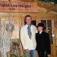 """Semi-exclusif - Dominique Desseigne et Alessandra Sublet - Inauguration du """"Chalet les Neiges 1850"""" sur la terrasse l'Hôtel Barrière Le Fouquet's à Paris le 27 novembre 2017. © Coadic Guirec/Bestimage"""