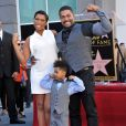 Jennifer Hudson, David Otunga, David Otunga Jr. - Jennifer Hudson recoit son etoile sur le Hollywood Walk of Fame a Hollywood le 13 novembre 2013