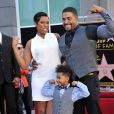 Jennifer Hudson, David Otunga, David Otunga Jr. - Jennifer Hudson recoit son etoile sur le Hollywood Walk of Fame a Hollywood le 13 novembre 2013.