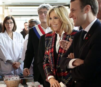 Brigitte Macron: Première dame toujours élégante avec le président à Saint-Denis
