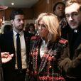 Le président Emmanuel Macron et son épouse Brigitte Macron visitent le centre hospitalier Delafontaine à Saint-Denis. Le 1er décembre 2017. © Stéphane Lemouton / Bestimage