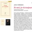 """Le dernier livre de Jean d'Ormesson, """"Et moi, je vis toujours"""", paraîtra début 2018 chez Gallimard."""
