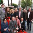 Melissa Rauch, Mayim Bialik, Kaley Cuoco, Jim Parsons, Johnny Galecki, Simon Helberg, Kunal Nayyar - Jim Parsons laisse ses empreintes dans le ciment hollywoodien au TCL Chinese Theater à Hollywood, le 10 mars 2015