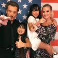 Johnny et Laeticia Hallyday avec leurs filles Jade et Joy, le 26 juin 2017.