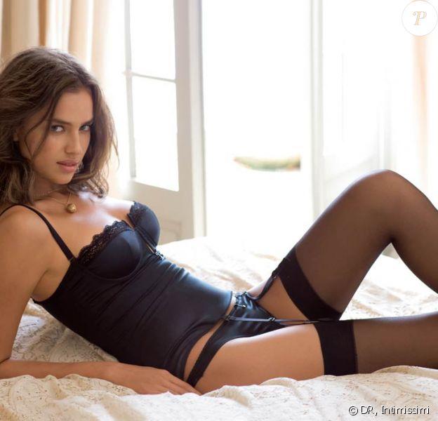 Le très sexy mannequin russe Irina Sheik nous souhaite une bonne bonne nuit... pour la nouvelle campagne de la lingerie Intimissimi