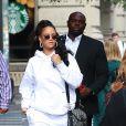 """Rihanna quitte le """" Fenty Pep Rally """" à New York Le 13 octobre 2017"""