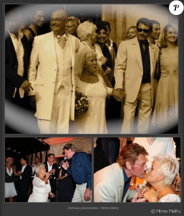 Mimie Mathy a rendu hommage à Johnny Hallyday, son témoin de mariage en 2005.