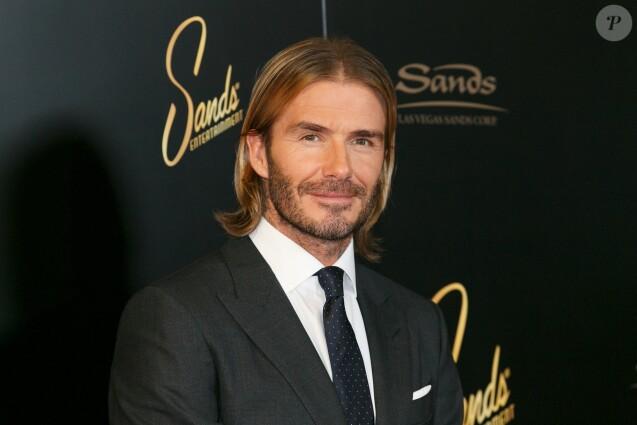 """David Beckham au photocall """"Las Vegas Sands Corp."""" à Tokyo, Japon, le 4 octobre 2017."""