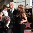 Dwayne Johnson reçoit son étoile sur le walk of Fame à Hollywood, le 13 décembre 2017