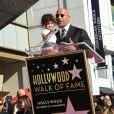 Dwayne Johnson et sa fille Jasmine - Dwayne Johnson reçoit son étoile sur le walk of Fame à Hollywood, le 13 décembre 2017