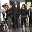Dwayne Johnson avec sa femme Lauren Hashian, sa fille Jasmine et sa mère Ata Johnson - Dwayne Johnson reçoit son étoile sur le walk of Fame à Hollywood, le 13 décembre 2017