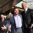 Dwayne Johnson et Jack Black - Dwayne Johnson reçoit son étoile sur le walk of Fame à Hollywood, le 13 décembre 2017