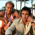 Exclusif - Gérard Lanvin et Franck Dubosc sur le tournage de Camping en 2005